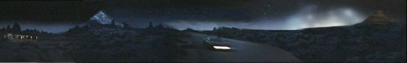 """Desert Lights"" Panorama Copyright 2000 by Brian Greene"